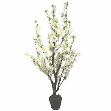 120cm Artificial Cherry Blossom Wedding Tree - Potted - White Silk Flowers