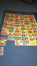 1963/64 TOPPS UNCUT SHEET FULL SET OF 66 w/ HULL PLANTE HARVEY/HULL IS VERY NICE