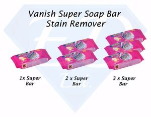 Vanish Super Soap Bar Multi Fabric Stain Remover With Enzymatic Action - 75g Bar