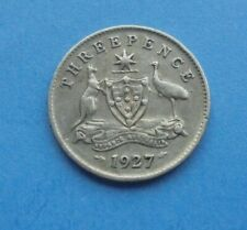 Australia, 1927 Threepence (Silver), as shown.