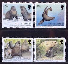 SOUTH GEORGIA 2002 Marine Life Fur Seals. Set of 4. Mint Never Hinged. SG349/352