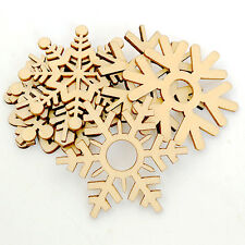 LC_ 10 PIÈCES VARIÉS en bois flocon de Neige Mariage Noël Suspension sapin