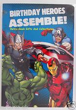 Marvel Comics Avengers Assemble Superhero Birthday Card Medium Size By Hallmark