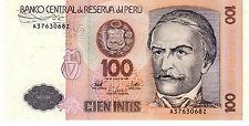 * Peru 100 Intis Banknote 1987