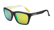 Bolle 527 Sunglasses - 12050-  MtBlk/MtBlk Graph w/ Polarized Brown Emerald Lens