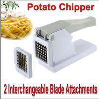 POTATO-CHIPPER FRENCH FRIES SLICER CHIP CUTTER CHOPPER VEGETABLES CHIPS-2 BLADES