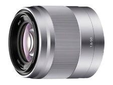 Pristine Sony E 50mm F/1.8 OSS Lens Silver SEL50F18