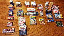 1:6 Barbie Dollhouse 27pc Miniature Food Pantry Refrigerator Accessory Handmade