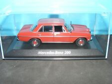 Mercedes Benz 200 1968 in Red with Black interior a new Maxichamps model 1:43rd.