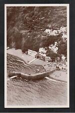 L@@K  Clovelly Aerial View 1940's? RP Postcard ~ Devon ~ GOOD QUALITY CARD