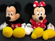Vintage Mickey & Minnie Mouse Disney Plush Dolls Walt Disney World Theme Park
