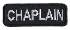 Motorcycle Jacket Embroidered Patch - Chaplain - Member Rank, Position, Status