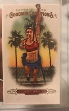 2018 Goodwin Champions Jessie Graff Mini Blank Back SSP CASE HIT AMERICAN NINJA
