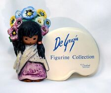 VINTAGE DeGrazia Goebel Native American Child Flowers Store Shelf Sign Figurine