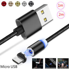 1/2M Micro USB Cable Magnetic Cable For Samsung 5V/2.1A Fast Charging Magnet Lot