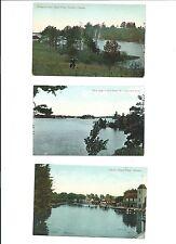 3 VIntage Post Cards postcards 1909-1910 Toronto  Canada
