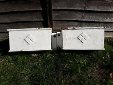 pair of antique cast iron drain pipe hoppers - ideal wall hanging garden planter