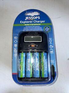 Jessops Explorer Charger + 4 Batteries Car Adapt