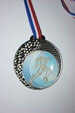"""Médaille """" Argent """"  COURSE  avec ruban diamètre 70 mm poids 50 gr"""