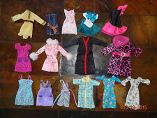 Lot of 15 Barbie Doll Contemporary Short Dresses and Jackets/Coats
