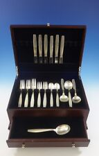 Swedish Modern by Allan Adler Sterling Silver Flatware Set Hand Wrought 31 Pcs