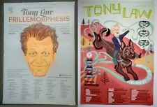 2 x Tony Law stand-up comedy tour posters ..Unto Himself 2016 & Frillemorphesis