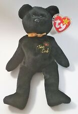 """Retired TY Beanie Baby 1999 """"The End"""" Bear With ERRORS"""