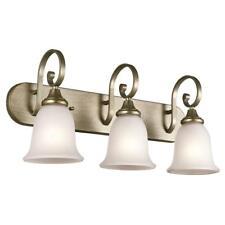 Kichler 45055SGD 3 LED Energy Savings Light Bulbs Monroe Bathroom Vanity Fixture