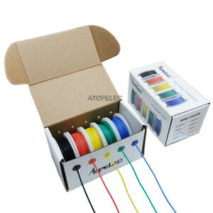 5 Rolls in Box Flexible Silicone Wire Tinned Copper Super Soft RC Cables ROHS UL