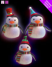 3 x Christmas Penguin Decorations Changing Colour Favours | Gifts