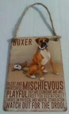Boxer - Vintage Retro Shabby Chic Mini Metal Plaque Sign