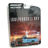 GREENLIGHT 44840 D INDEPENDENCE DAY MOVIE 1971 CHEVROLET C-10 PICK UP 1/64 Chase