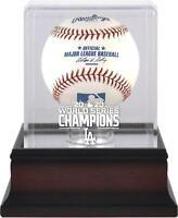 Los Angeles Dodgers 2020 World Series Champs Mahogany Logo Baseball Display Case