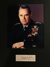CIA 2nd Director General Hoyt Vandenberg WWII CO 9th Air Force SIGNED CUT MATED