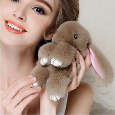 Bunny Rex Rabbit Fur Bag Handbag Keychain Pom Doll Ball Key Chain Ring Pendant