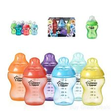 Tommee Tippee Bottle Set Baby Infant Closer to Nature Fiesta 9 Ounce 6 Piece New