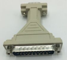 3 Pack of DB9 Male 9-Pin to DB25 Male 25-Pin Serial Adapters DB9M to DB25M New