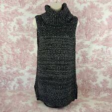 Banana Republic Tunic Sweater S Small Gray Cowl Neck Sleeveless Mohair Wool