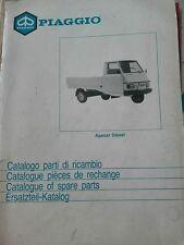 404512 PIAGGIO APE CAR DIESEL CATALOGO PARTI RICAMBIO BROCHURE DEPLIANT KATALOG