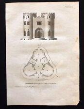 Antigüedad 1800 impresión constructores revista de diseño de arco. para una mansión gótica LXII