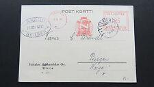 Postcard Postikortti Finland Suomi Ulvila Bergen Norge Norway 1935
