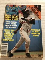 1981 Baseball Digest BALTIMORE ORIOLES Eddie MURRAY No Label NEWSSTAND