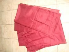 Two Sheer Curtain Panels Burgundy Maroon Color Size 59x63 Euc