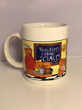 Best Teacher Coffee Mug featuring Bears  Avon Product 10 oz  Multi-Color