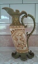 Antique Royal Rudolstadt German Porcelain Pitcher Ewer Blue RW 10 3/4'' tall