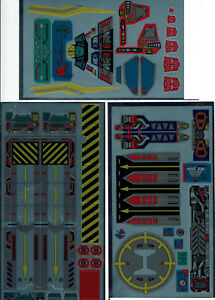 TRANSFORMERS GENERATION 1, G1 AUTOBOT COUNTDOWN REPRO LABELS/ STICKERS