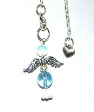 Beautiful Aqua Aura Quartz Crystal Guardian Angel Charm Pendulum - Cleansing