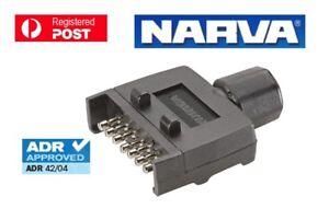 NARVA Trailer Connector 7 Pin Flat Plastic Plug 82141BL