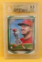 2019 Topps Gallery Mike Trout Masterpiece Green Insert #/250 BGS 9.5