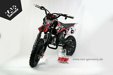 "E-START 49ccm Pocketbike, 10"" Dirtbike, 2Takt Automatik Enduro KXD 708A"